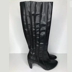 Tsubo Black Leather Knee High Boots AQ6-01